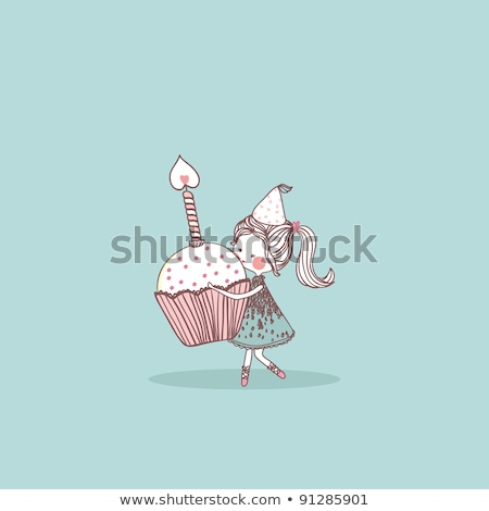 Girl and birthday candles Stock photo © IS2