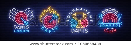 target board for competition darts game vector stock photo © andrei_