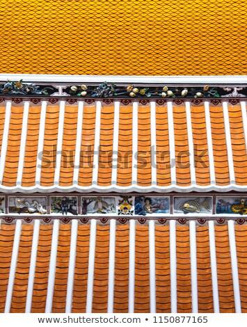 Templo mosaico Tailandia hermosa verde viaje Foto stock © ssuaphoto