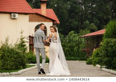 Portret elegante paar luxueus plaats Stockfoto © majdansky