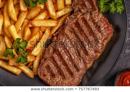 beef barbecue and french fries Stock photo © M-studio