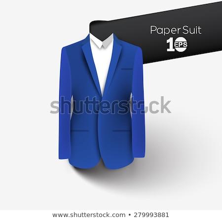 soyut · terzi · takım · elbise · moda · logo · erkekler - stok fotoğraf © taufik_al_amin