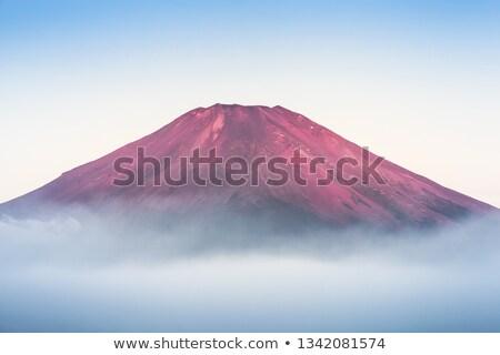 Fuji noorden gezicht Mount Fuji dawn Stockfoto © craig