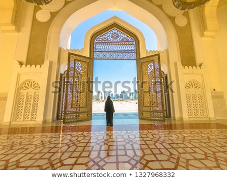 Doha, Qatar - View from the doors of The Grand Mosque in Doha Stock photo © Taiga