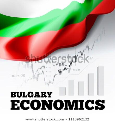 Közgazdaságtan zászló üzlet diagram oszlopdiagram stock Stock fotó © m_pavlov