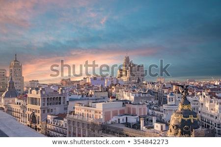 Madri · panorama · azul · viajar · europa · férias - foto stock © joyr