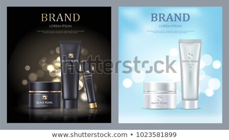 Brand Name Posters with White Black Pearl Cream Stock photo © robuart