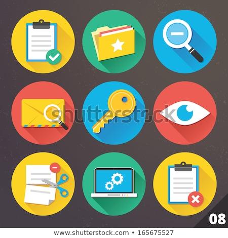 sleutel · icon · verschillend · stijl · kleur · vector - stockfoto © biv