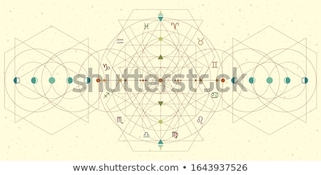 Astrology natal chart vector background Stock photo © m_pavlov
