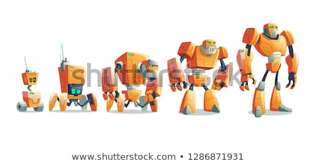Robot Leg isolated. Cyborg Foot metal . Vector illustration Stock photo © MaryValery