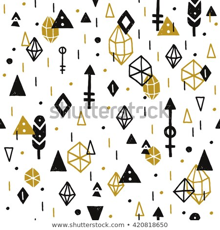 doodle hipster flash tattoo style seamless vector pattern stock photo © yopixart