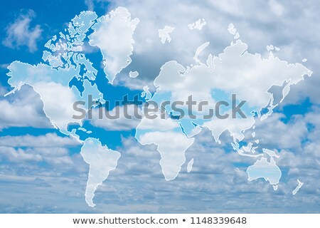 cloudy world map Stock photo © milsiart