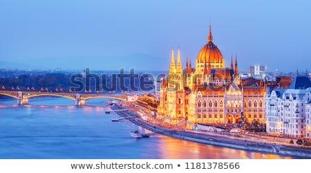 Noc dekoracje Budapeszt miasta Węgry wody Zdjęcia stock © prill