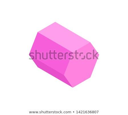 Rosa prisma isolato bianco sfondo vettore Foto d'archivio © robuart