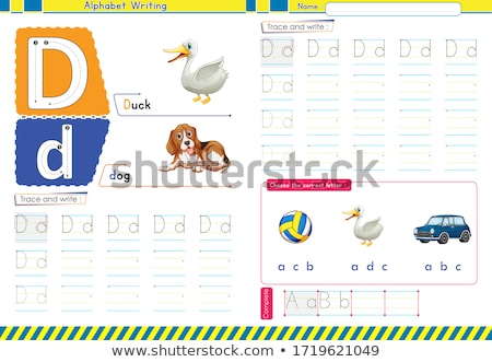 how to write letter D workbook for children Stock photo © izakowski