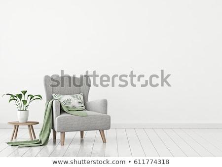 Stockfoto: Fauteuil · kamer · moderne · huis · licht · ontwerp