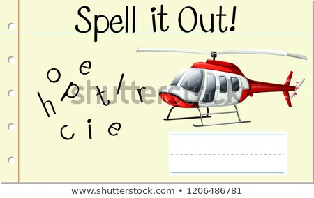 Spell it out helicopter Stock photo © bluering