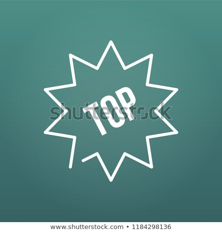 Trusted top seller starburst vector icon illustration on modern background. top 10, raiting. Stock photo © kyryloff