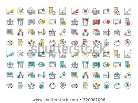 Színes ikon gyűjtemény üzlet vezetőség technológia pénzügyek Stock fotó © makyzz
