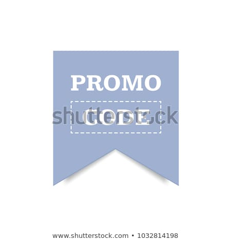Promo code, coupon code. Flat vector set of cards design on white background. Stock photo © Natali_Brill