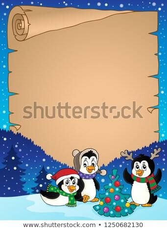 Noël parchemin papier heureux art hiver Photo stock © clairev