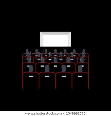 Lecture hall. In cinema people sit on armchairs. Presentation.  Stock photo © MaryValery