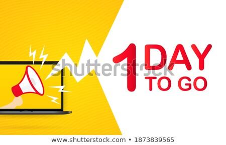 Akció egy nap rajz szalag exkluzív Stock fotó © robuart