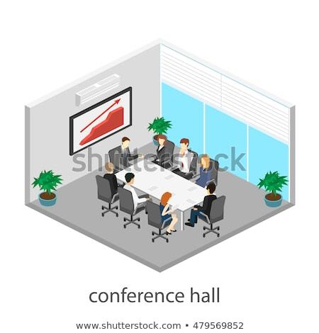 Vector isometric office meeting room interior Stock photo © tele52