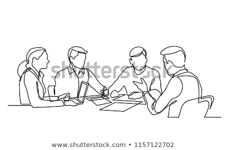Meeting of Boss and Workers Vector Illustration Stock photo © robuart