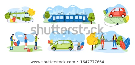 Boy and Girl Riding on Segway Personal Transporter Stock photo © robuart