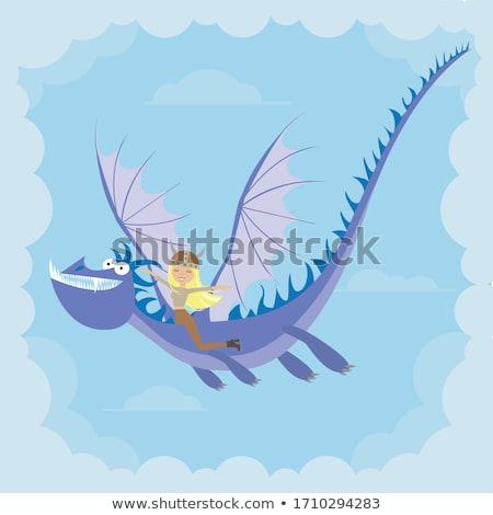 Cartoon sonriendo vikingo volar feliz Foto stock © cthoman