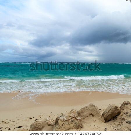 orkaan · tropische · storm · begin · caribbean · zee - stockfoto © lunamarina