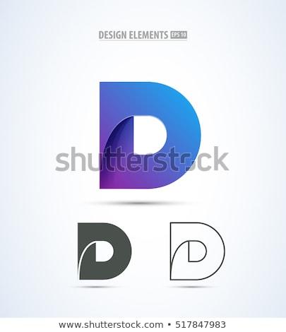手紙 ロゴ セット ベクトル コレクション アイコン ストックフォト © blaskorizov
