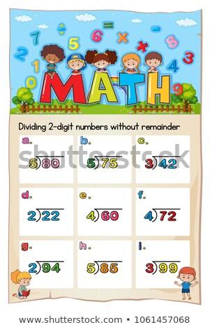 Matemática modelo dois dígitos ilustração papel Foto stock © colematt