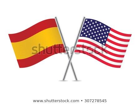 2 フラグ 米国 スペイン 孤立した ストックフォト © MikhailMishchenko