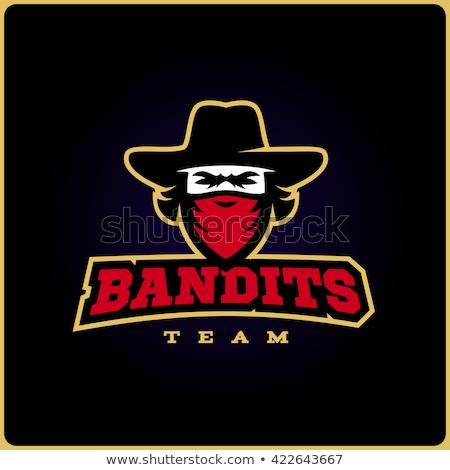 Outlaw Cowboy Mascot Shield Stock photo © patrimonio