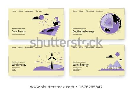 Geothermal energy app interface template. Stock photo © RAStudio