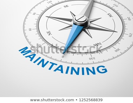 compass on white background maintaining concept stock photo © make