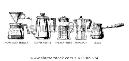 Croquis mug isolé blanche café Photo stock © Arkadivna