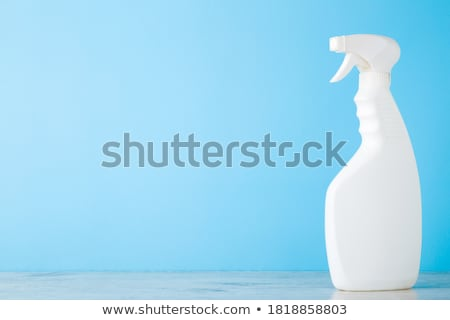 Housekeeper in front of a blue empty wall Stock photo © ra2studio