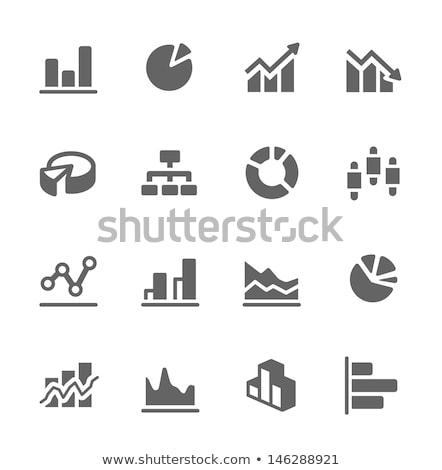 Foto stock: Gráfico · de · barras · vector · icono · aislado · blanco