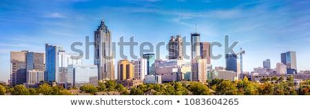 Wolkenkrabbers centrum atlanta stadsgezicht blauwe hemel verticaal Stockfoto © iofoto