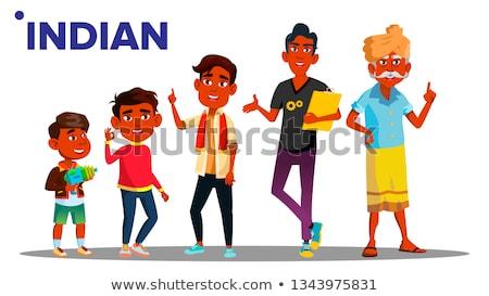 Indian generatie mannelijke mensen persoon vector Stockfoto © pikepicture