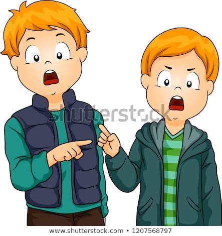 дети мальчики брат вина иллюстрация два Сток-фото © lenm