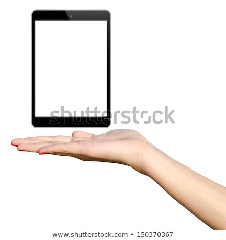иллюстрация девушки ipad женщину технологий экране Сток-фото © adrenalina