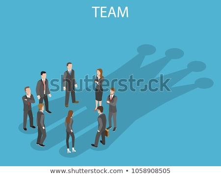3d people holding hand with their leader stock photo © ribah