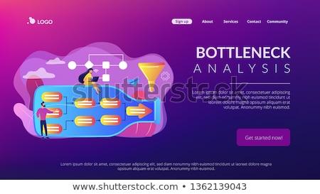 Analyse landing pagina zakenlieden fles Stockfoto © RAStudio