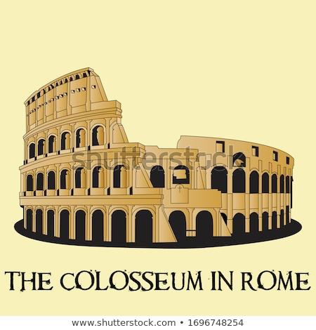 Antica colosseo Roma romana forum cielo Foto d'archivio © Givaga