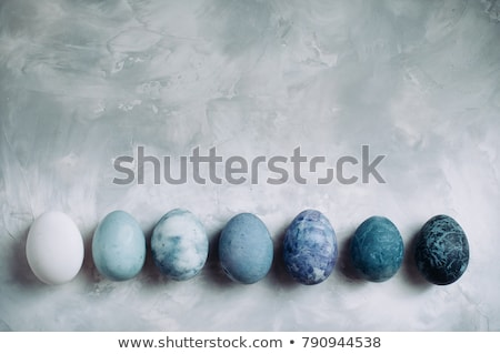 Stock photo: Easter eggs with stone or marble effect