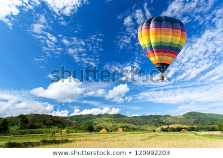 Stock photo: hot air baloon on the sky